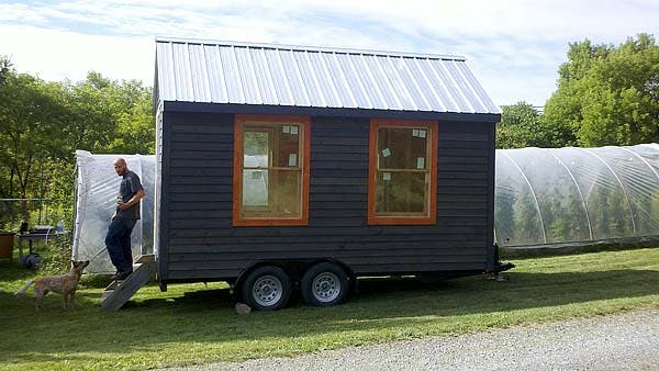 closer view of tiny house two