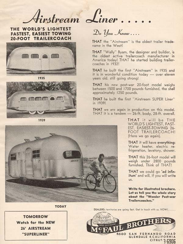 Airstream bicyclist ad