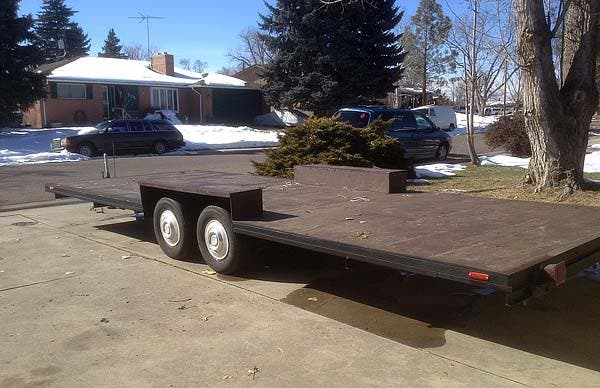 trailer base with floor installed