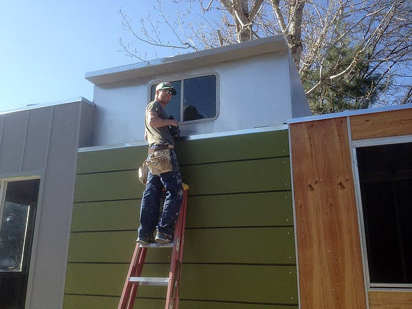 Greg working on the tiny casita