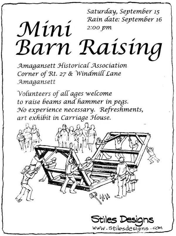 barn raising poster
