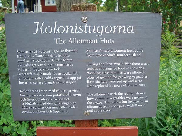Kolonistuga sign