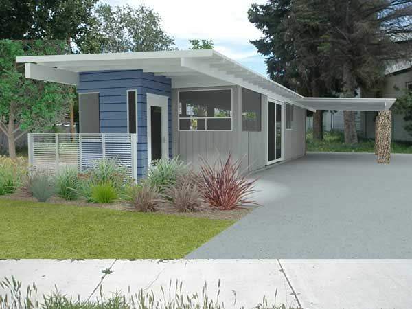 rendering of completed house