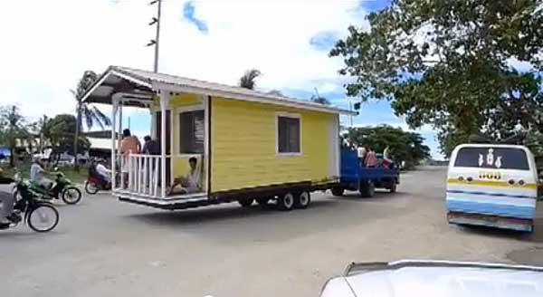 moving tiny house