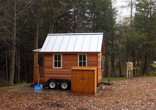 tiny house in winhall, vermont, small house septic system, tiny house septic system
