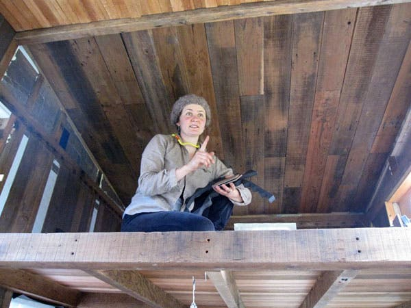 Jenine in the loft