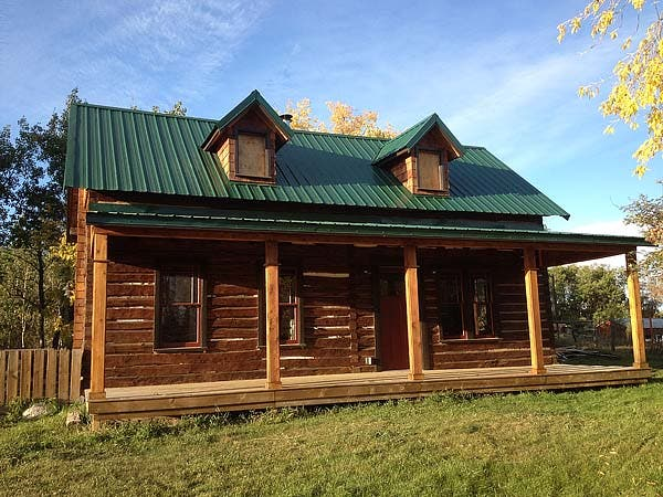 Log cabin after
