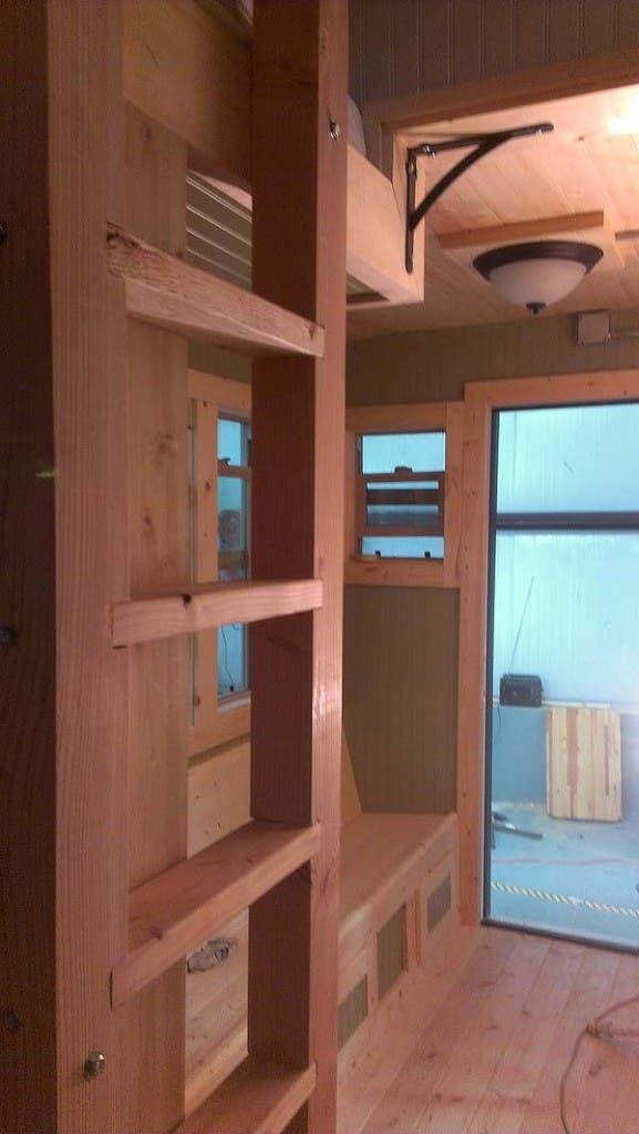 ladder to bunks in caboose