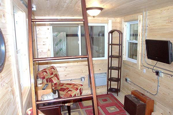living area tiny house