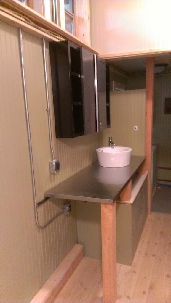 sink tiny caboose house