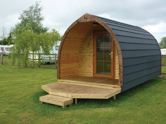 Log pod for Portable wooden house