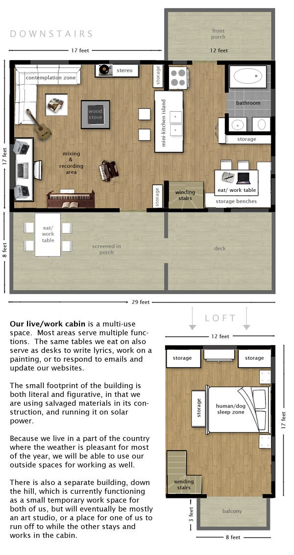 off grid cabin plan