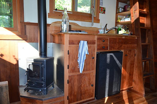woodstove. I've tried to keep this story brief, highlighting practical  information for future tiny-house builders, but I did a ton of research  (thank you ... - Colin's Coastal Cabin