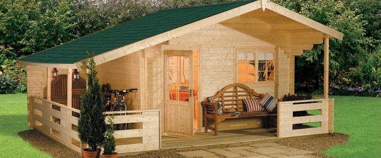 Hgc log cabin kits for Cabin and cottage kits