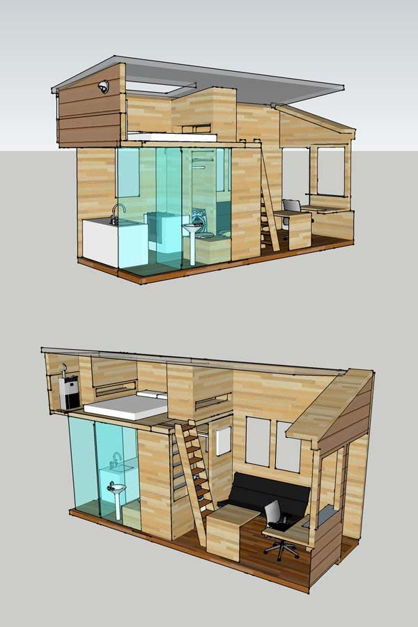Alek 39 s tiny house project for Small house plan design 3d