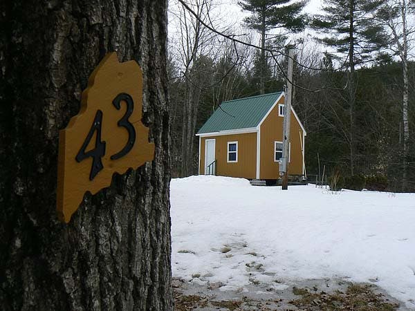 Casco Maine Cabin Winter