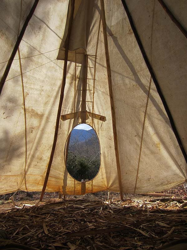 inside of tipi