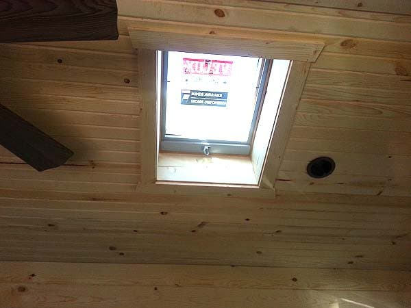 skylight in cabin