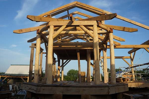 round timber frame