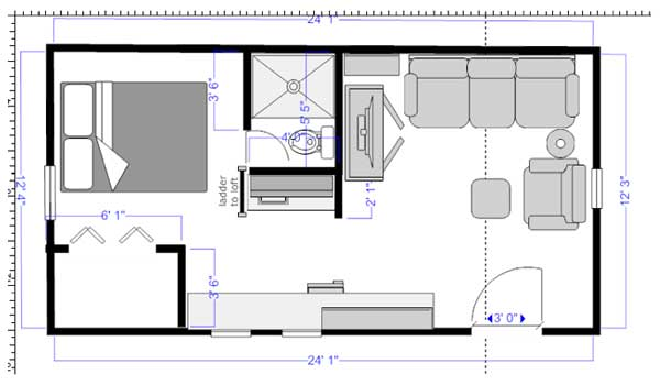 floor plan craker cabin - Tiny House Floor Plans