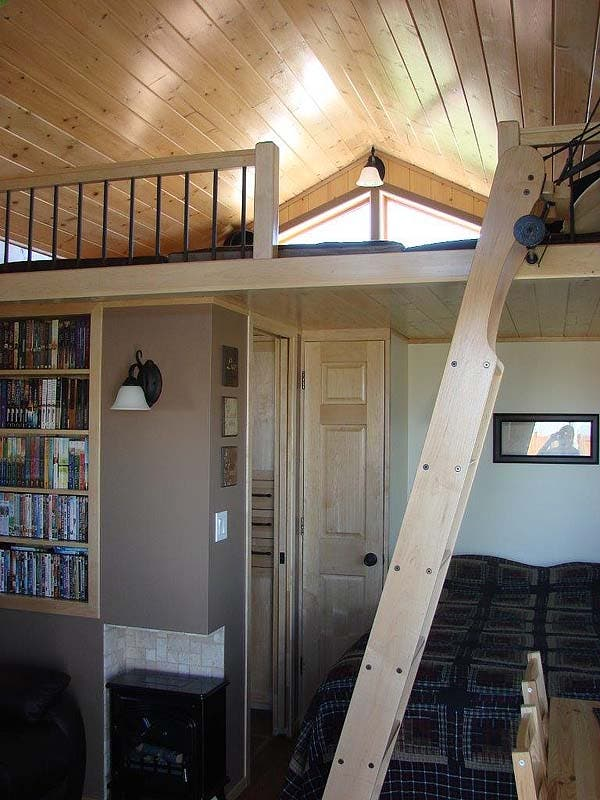 loft area and ladder