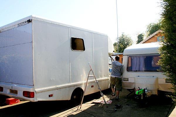 van and caravan