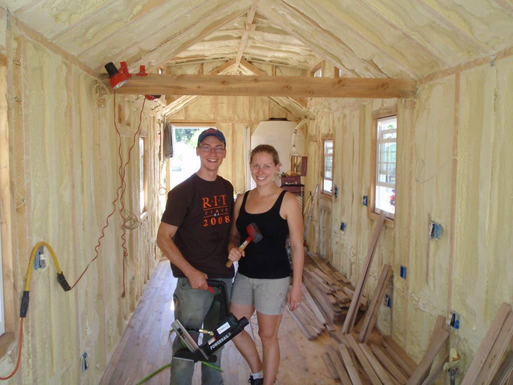 Erin and Dondi's Off-Grid Tiny House