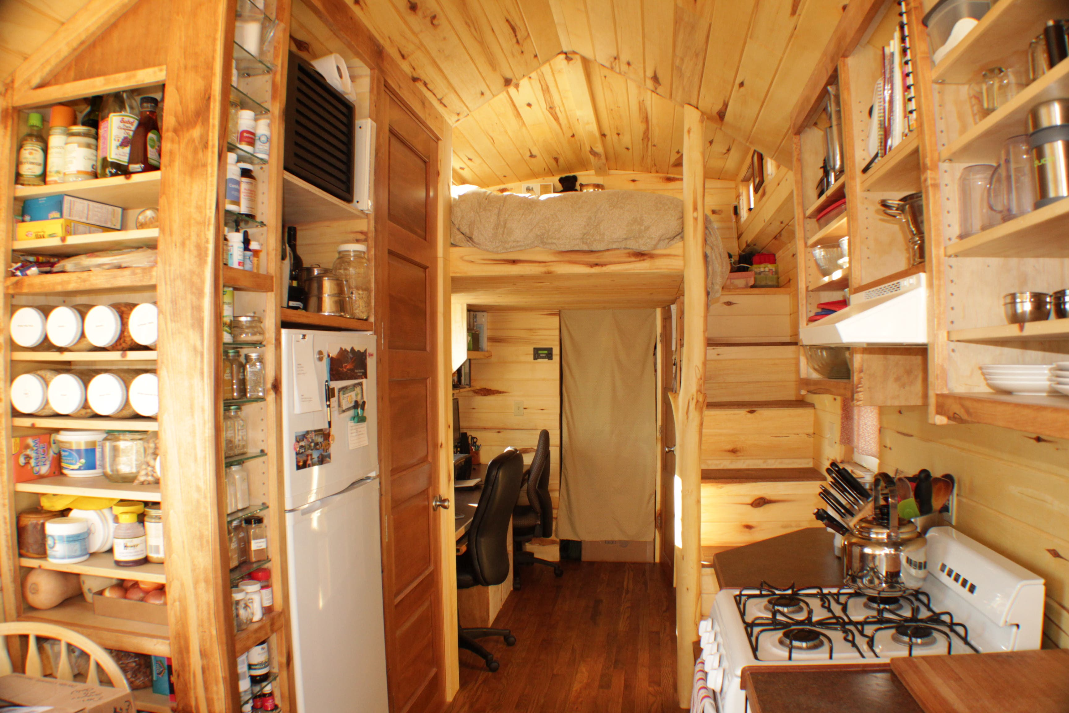 Furniture For Tiny Houses Interiors : Erin and Dondis Off-Grid Tiny House - Tiny House Blog