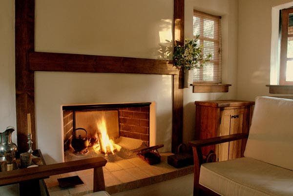 fireplace in Innermost House