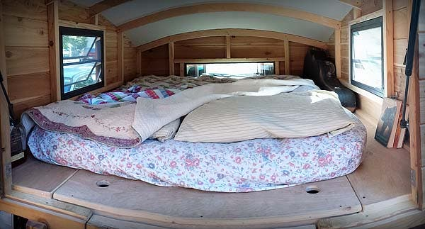 wide angle of bed