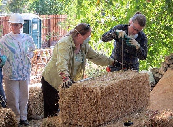 shortening the bales