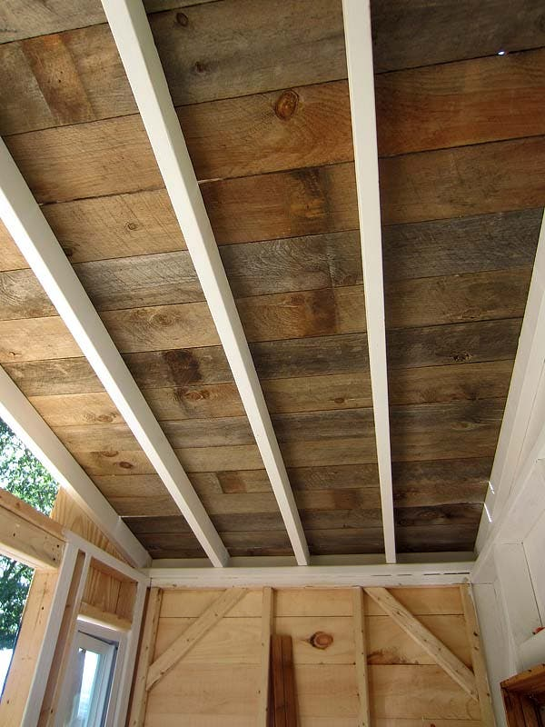 reclaimed wood roof