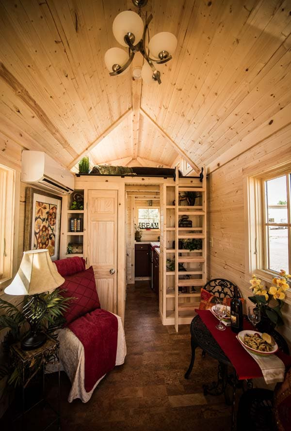 elm 18 overlook great room - Tumbleweed Tiny House Interior