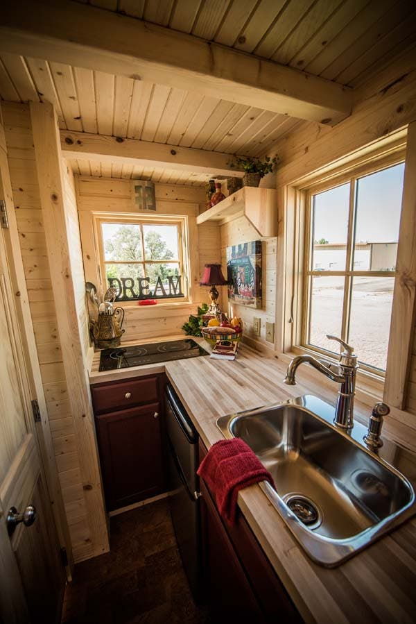 elm 18 overlook kitchen - Tumbleweed Tiny House Interior
