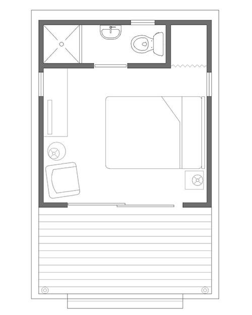 Zip Cabin floor plan