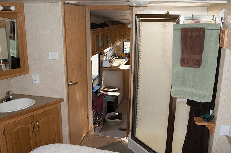 Matt and kathleen 39 s 5th wheel tiny house blog for 2 bathroom travel trailer