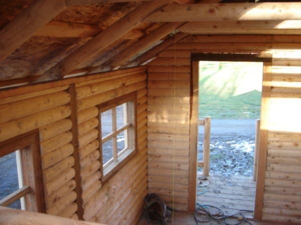 Mr cabin affordable mini cabin for Log cabin with loft
