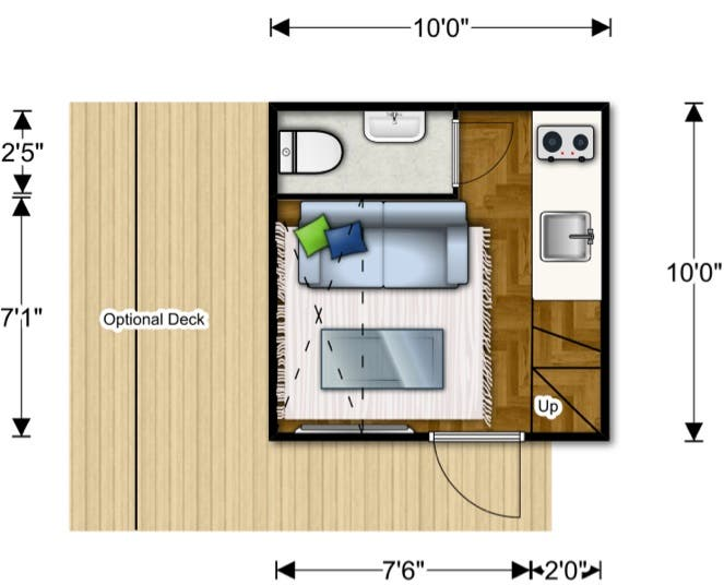 nomad microhome plan - Nomad Homes