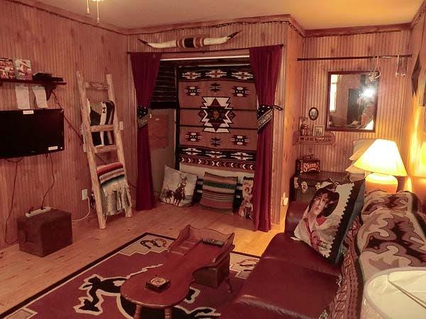 cowboy living room. living room Cowboy Cottage