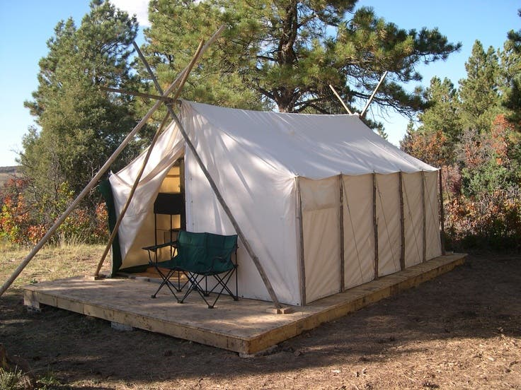 Canvas wall tents for Homemade wall tent frame