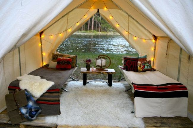 2012-july-august-summer-1859-notebook-gl&ing-wall- & Canvas Wall Tents
