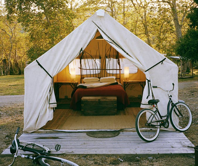 Gl&ing_Tent-Bikes_675px & Canvas Wall Tents