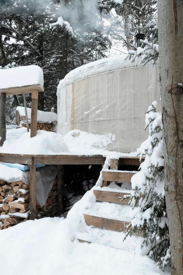 first yurt