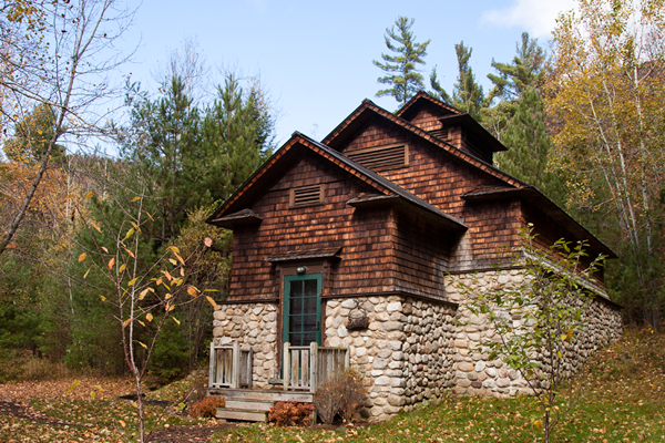 the ice house upper jay upstate new york cabin autumn travel photography