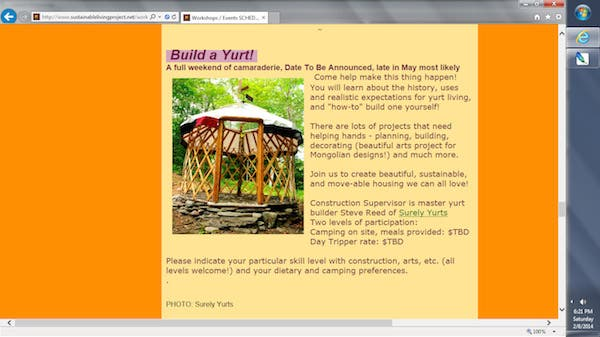 Yurt Workshop