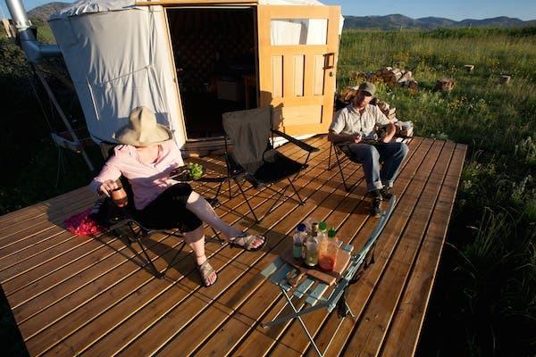 porch of yurt