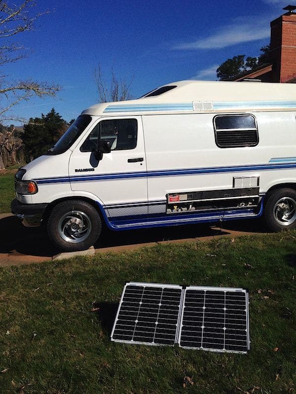 solar panel and roadtrek