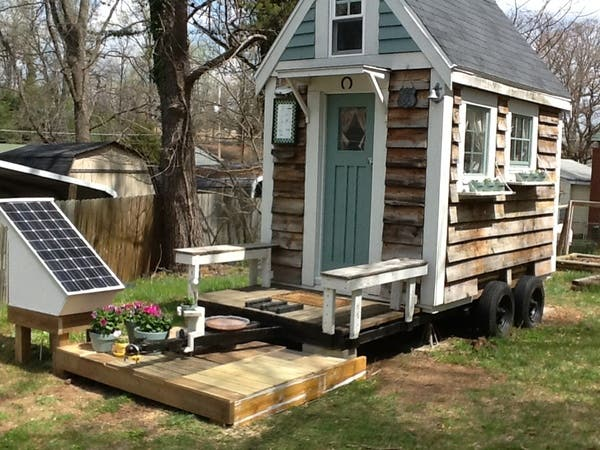 Marshas Tiny House and Solar Setup
