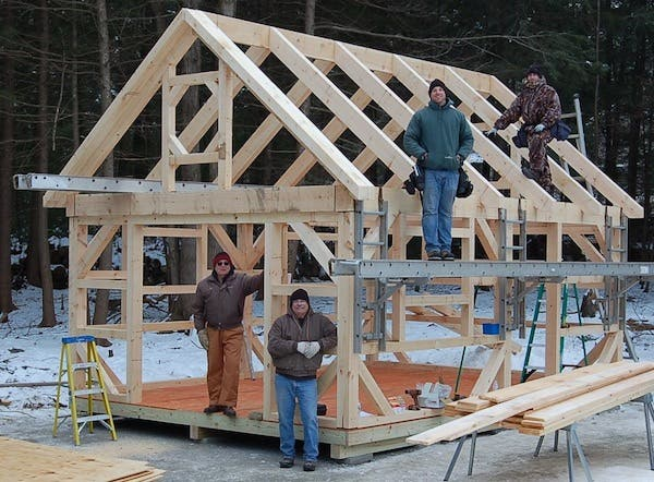 Connecticut post beam for Tiny home construction plans