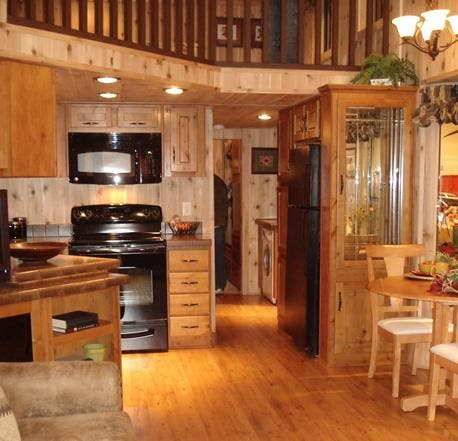 Log cabin park model home